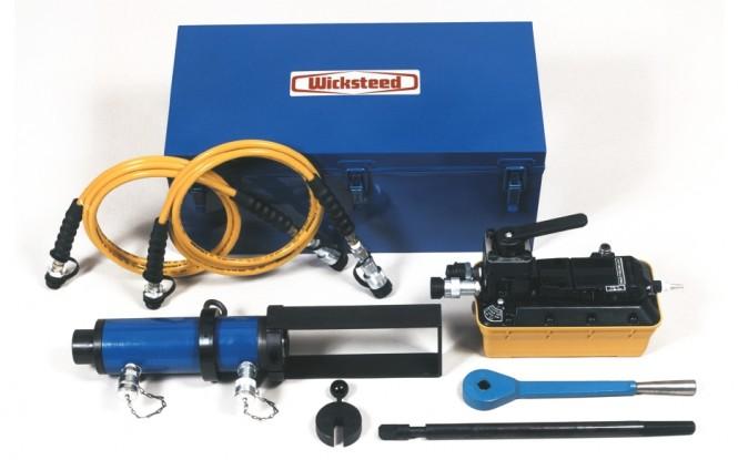 تیوب پولر دستی نیمه اتوماتیک هیدرولیکی پنوماتیکی با ظرفیت 20 تن مدل TSRK-20 ساخت ویکستید انگلستان