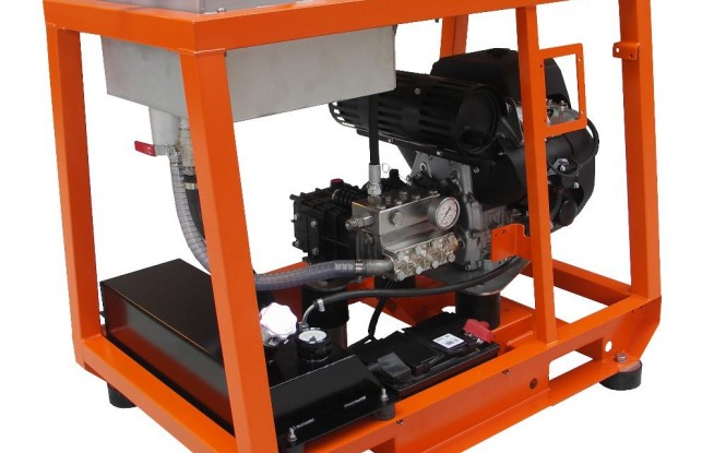 واترجت بنزینی 500 بار فشارقوی جهت شستشو و رسوب زدایی صنعتی مدل CP-22 ساخت دن جت دانمارک